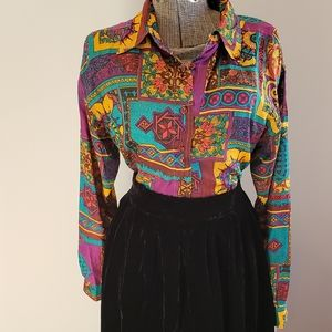 Vintage Silk Eaton Blouse